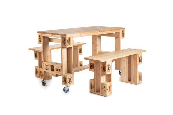 Tisch mit 2 Bänken Eckbert